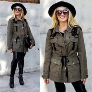 Anorak Jacket - Olive Parka Coat Trendsetter